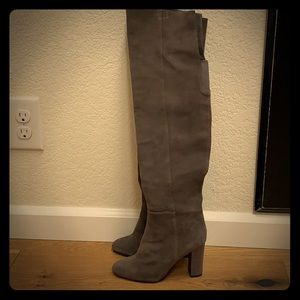 Barely worn Halogen grey over the knee boots